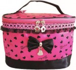 Pink Black Cute Makeup Bags