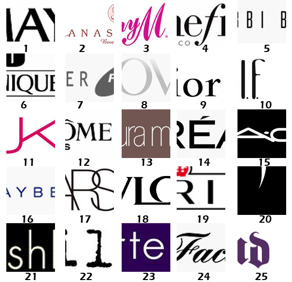 Guess these Makeup Brands