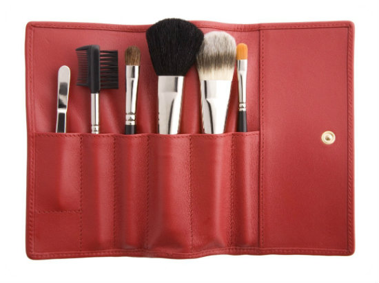 Red Makeup Brush Roll